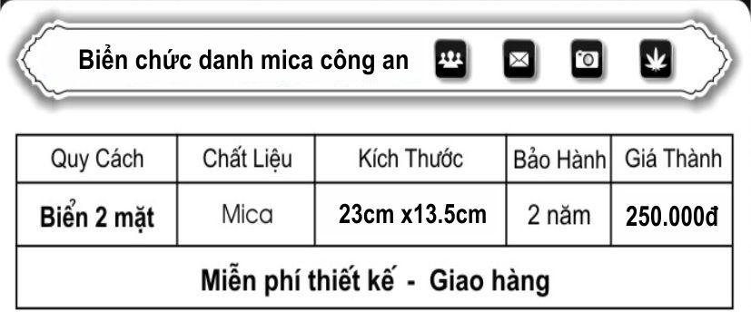 BAO GIA BIEN CHUC DANH CÔNG AN